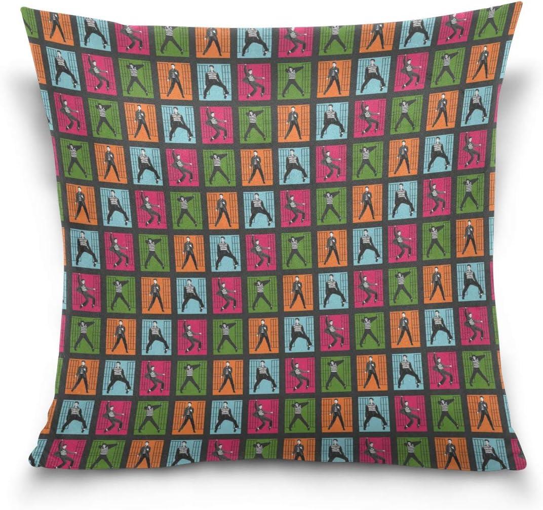 Munbroal Pillowcase Cushion Cover Elvis Presley Jailhouse Rock Art Home Decor Sofa Throw Pillow Cover