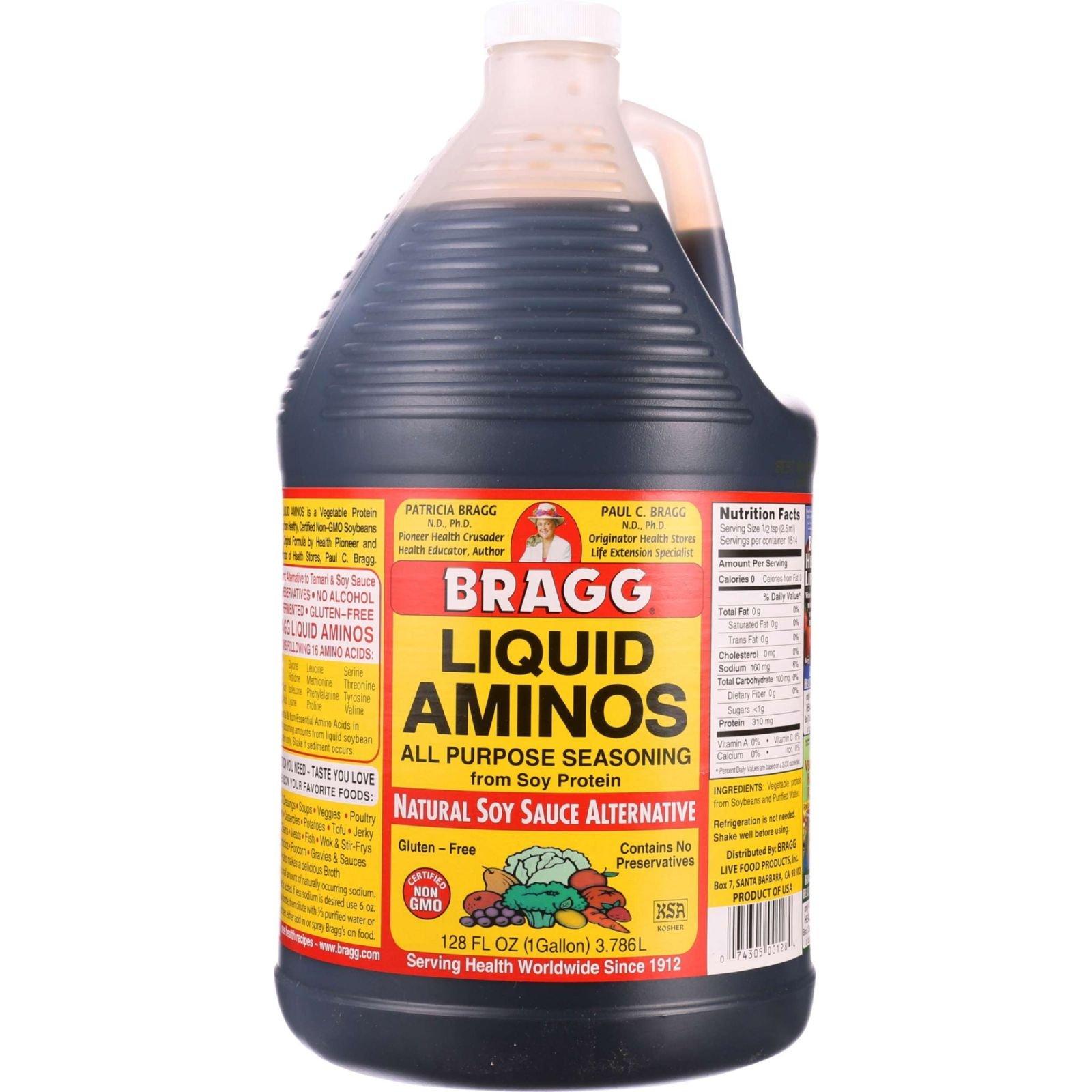 Bragg Liquid Aminos - 128 oz - case of 4 - - Gluten Free - - - -