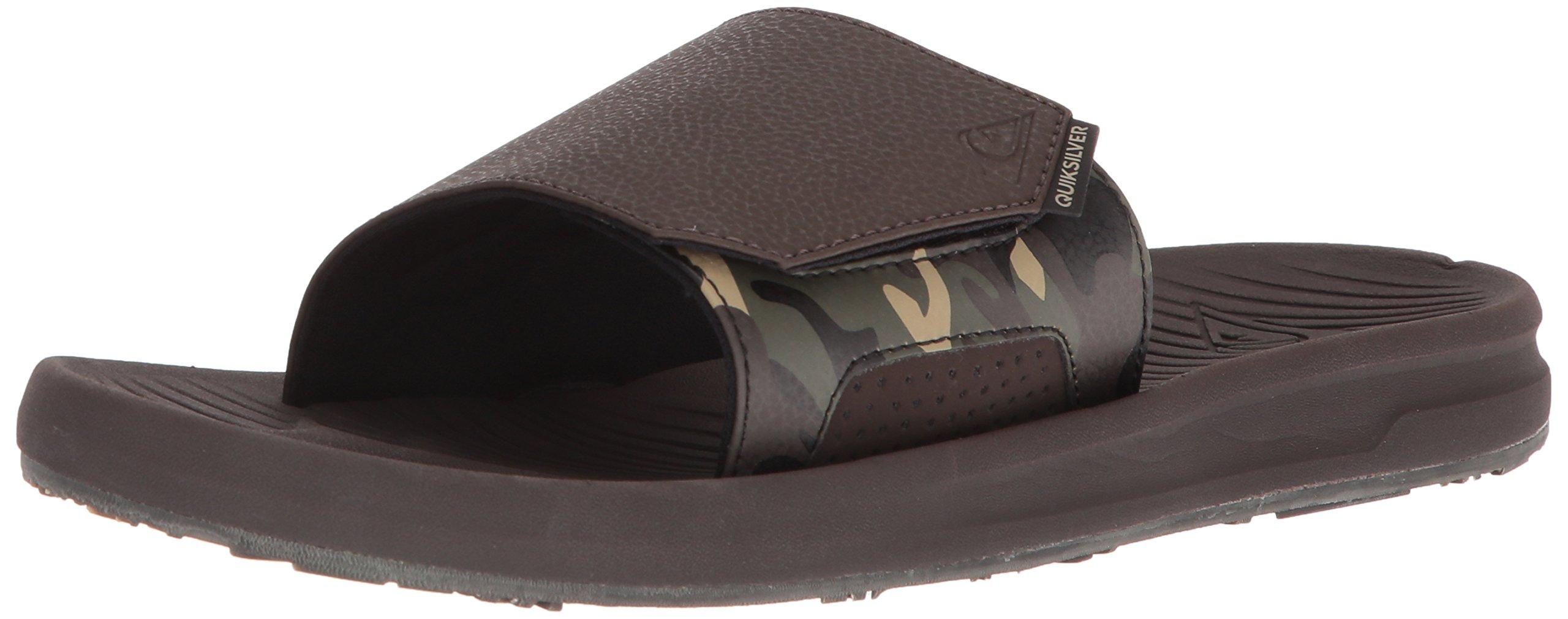 Quiksilver Men's Travel Oasis Slide Sandal, Brown/Brown/Brown, 9(42) M US