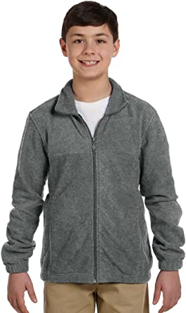 Harriton Youth Full-Zipper Polyester Fleece Pullover M990Y