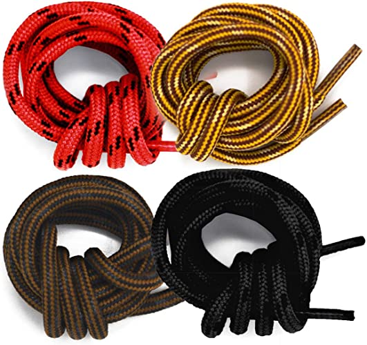 2 Leather Boot Shoe Laces Hiking or Work in All colors 72 inches MADE IN USA