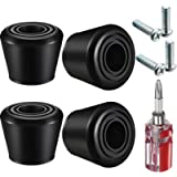 4 Pieces Roller Skate Toe Stoppers Rubber Roller Skates Brakes with 4 Pieces Screws and 1 Piece Dual Purpose Screwdriver