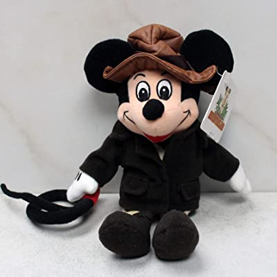Disney Adventureland Mickey Mouse Adventurer Indiana Jones Plush Bean Bag by Disney: Toys & Games