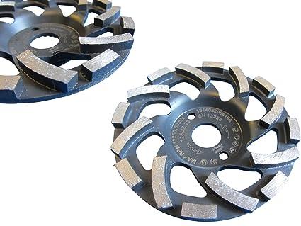 5 x Diamant-Schleiftopf Schleifteller 125 mm Betonschleifer Neu