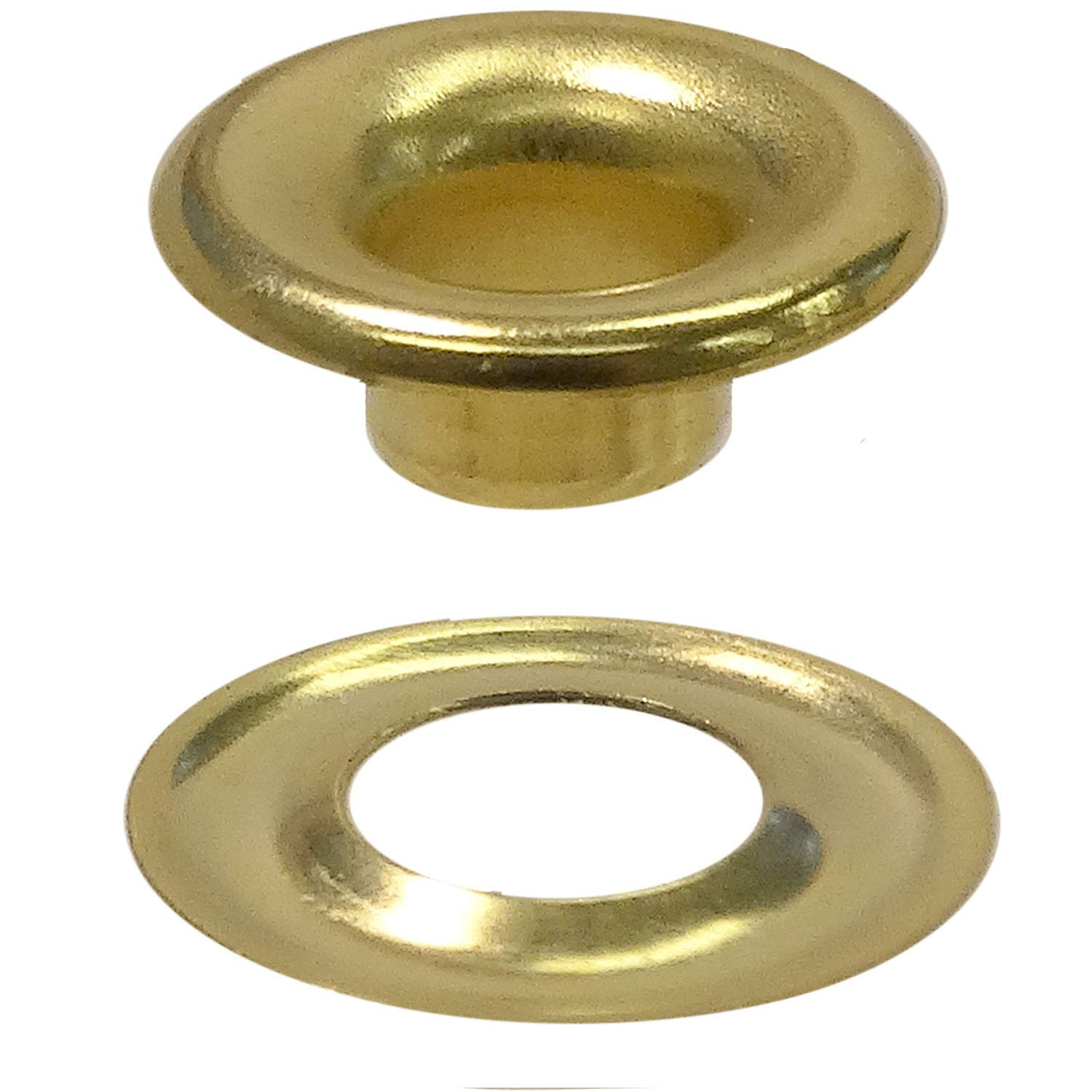 Stimpson Sheet Metal Grommet and Washer Brass Durable, Reliable, Heavy-Duty #00 Set (1,440 pieces of each)
