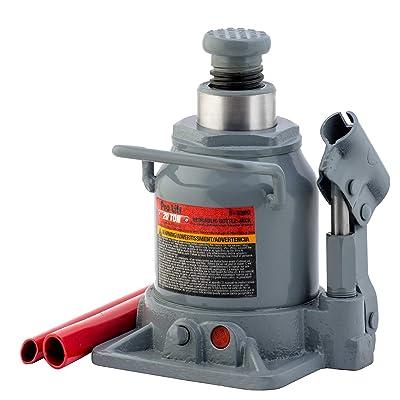 Pro-LifT B-S20D Grey Hydraulic Bottle Jack - 20 Ton Capacity: Automotive
