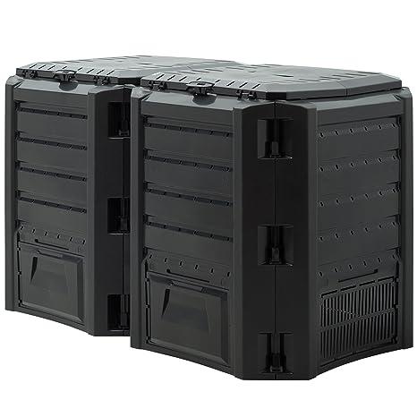Deuba Compostador con capacidad de 800L Negro - producción ...