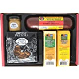 Wisconsin Cheese, Sausage & Gourmet Dipping Pretzel Gift Box, An Assortment Sampler of Wisconsin's Best Gift Boxes…