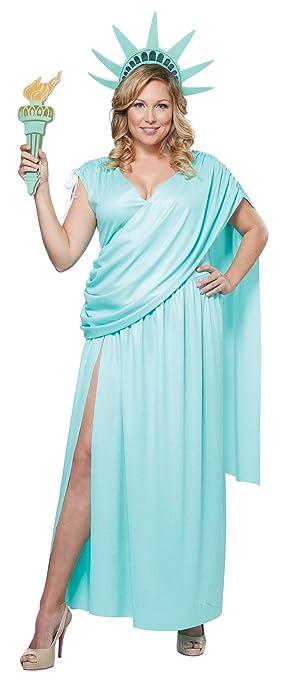 California Fancy dress costumes Womens Lady Liberty Plus ...