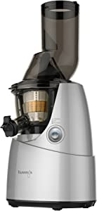 Kuvings Whole Slow Juicer B6000S - Higher Nutrients and Vitamins, BPA-Free Components, Easy to Clean, Ultra Efficient 240W, 60RPMs, Includes Blank Strainer-Silver (Renewed)