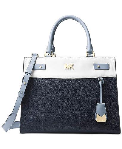 d30db76849446d ... handbag 559b5 3774e; australia michael michael kors reagan large  satchel admiral white pale blue handbags amazon 62a44 ff109