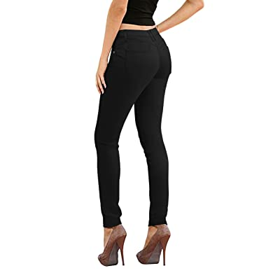 Hybrid & Co. Women's Butt Lift Super Comfy Stretch Denim Skinny Yoga Jeans at Women's Jeans store