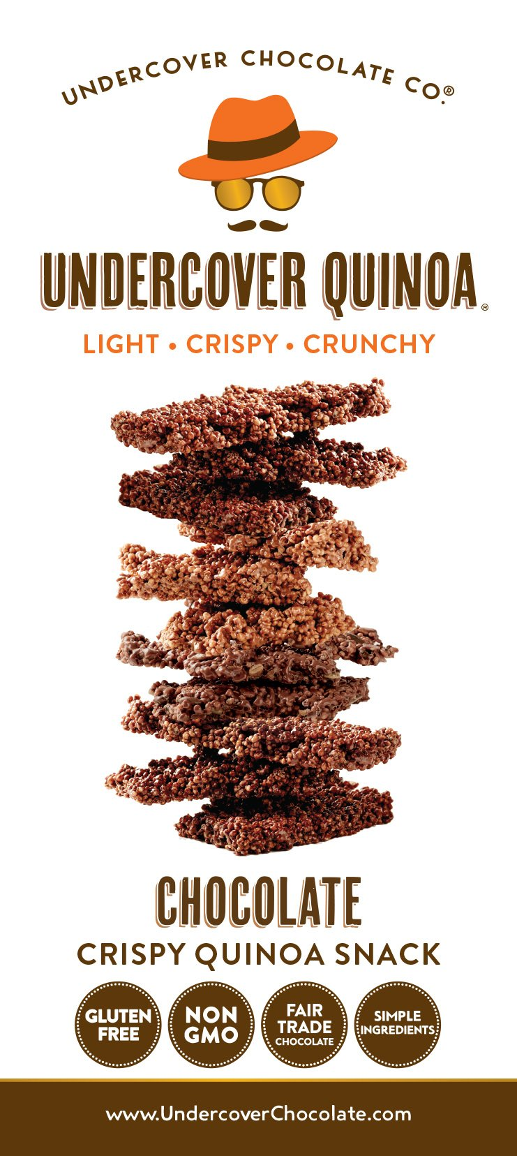 UNDERCOVER CHOCOLATE CO Milk Chocolate Quinoa Snack, 2 OZ