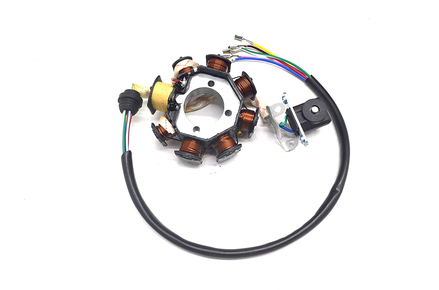 Chanoc 8 Poles Magneto Stator for 150cc 200cc 250cc ATV Quad Dirt Bike Pit Bike 4 Wheelers