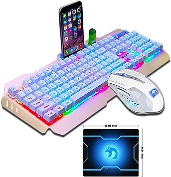 RGB LED Gaming Keyboard LED Backlit USB Wired Rainbow Gaming Keyboard+Mouse NEW