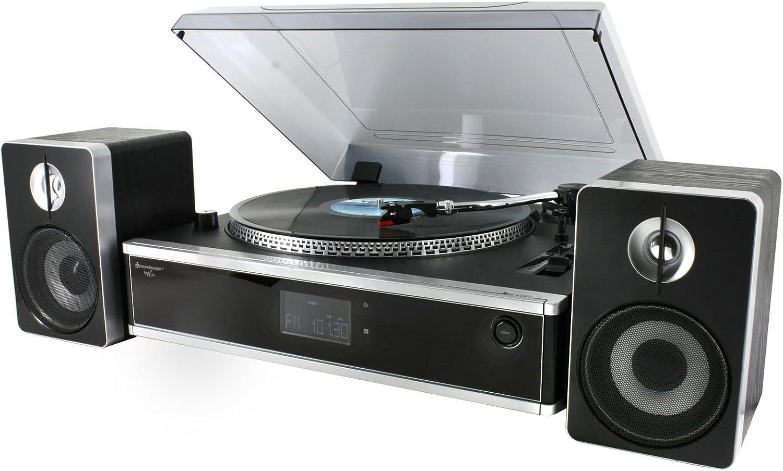 Soundmaster PL875USB Semiautomatic Record Player CD/MP3 USB SD/MMC Encoding