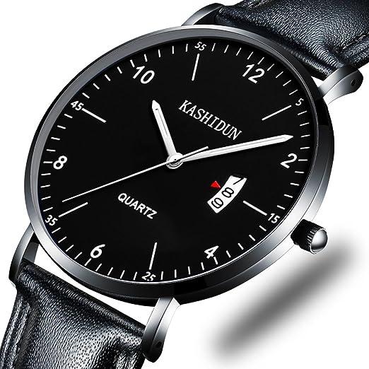 KASHIDUN Mens Watches & Womens Watch Luxury Quartz Wristwatches Small Dial Waterproof Calendar Date ...