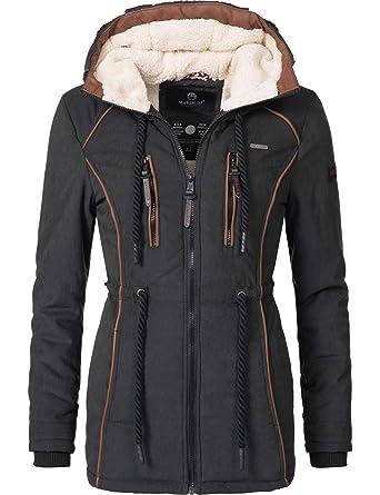 7d99d2a96e3289 Marikoo Damen Winter Jacke Wintermantel Maiglöckchen 7 Farben XS-XXL ...