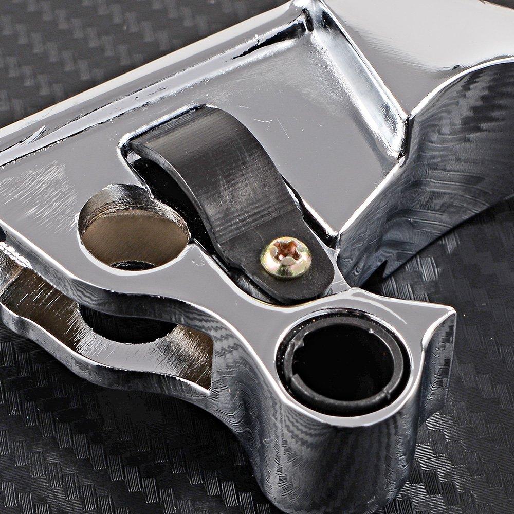 BLACK Wide Blade Ergonomic Brake /& Clutch Levers Fit 08-13 Harley HD Road King Electra Street Glide