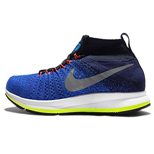 1efd08f1901 Nike Air Zoom Pegasus All Out Flyknit GS Running Shoes RARITY different  colors RACER BLUE WHITE-OBSIDIAN 4.5 M US Big Kid  Amazon.in  Shoes    Handbags