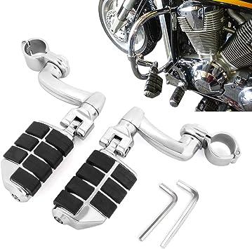 1/″ Magnum Quick Clamps For Harley Kawasaki Suzuki Yamaha Motorcycle Dually Highway Foot Pegs