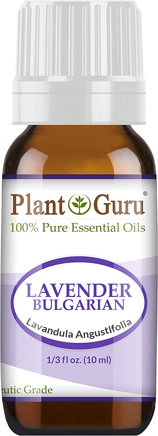 Lavender Essential Oil 10 ml (Bulgarian) 100% Pure Undiluted Therapeutic Grade for Skin, Body and Hair Growth, Aromatherapy Diffuser, Great for Relaxation and Calming, Natural Sleep Aid.