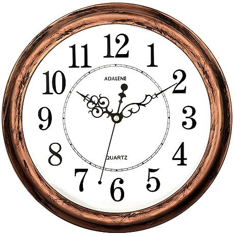 Amazon.com: Adalene 13 Inch Large Non Ticking Silent Wall Clock ...