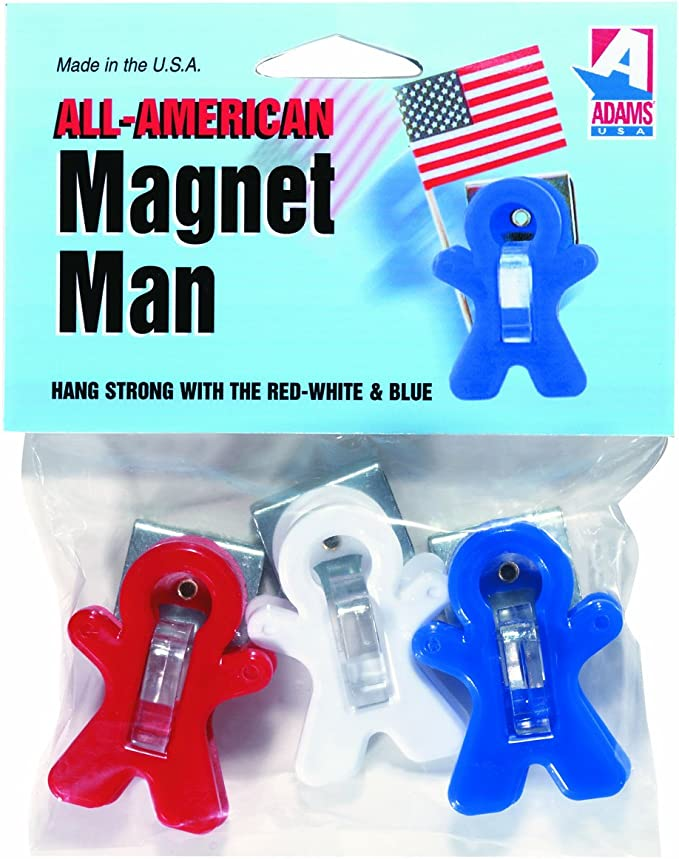 3-Pack Adams Manufacturing All-American Magnet Man Clip
