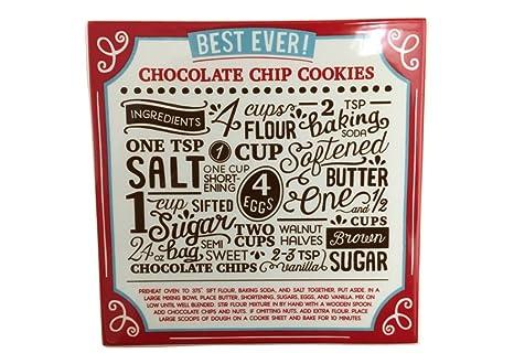 Amazon.com: Demdaco Christmas Cookie Recipe Trivet (Chocolate Chip ...