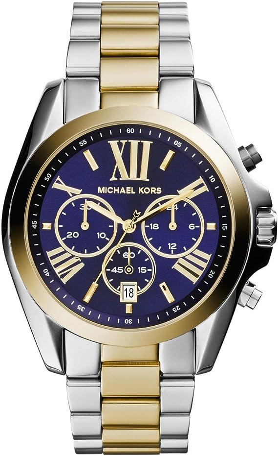 Michael Kors Reloj Cronógrafo para Mujer de Cuarzo con Correa en Acero Inoxidable MK5976: Amazon.es: Relojes