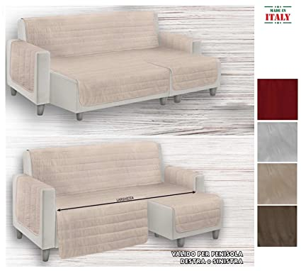 Casatessile Tapizado sofá con Chaise Longue Relax - Beige, 5 ...