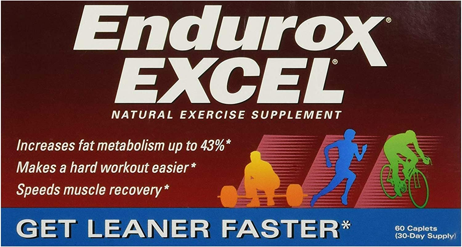 Endurox Excel Natural Exercise Supplement, Increases Metabolism & Builds Endurance - 60 Caps