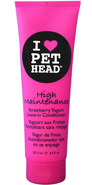 Pet Head Chien Démêlant High Maintenance Parfum Yaourt aux Fraises 251.3 ml TPHH1