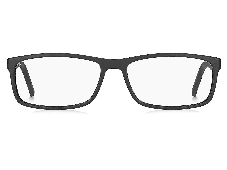 Tommy Hilfiger Mens Th1639 Rectangular Sunglasses Matte Black 53 mm