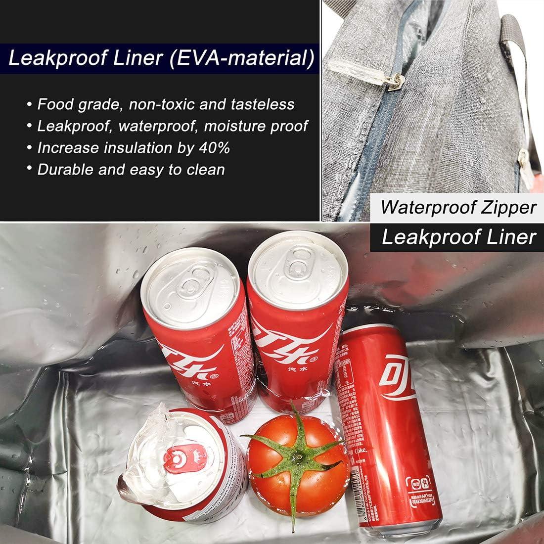 Grande Bolsa térmica 15L 20L 30L plegable bolsa isotermica bolsa del almuerzo porta Bolsa nevera para picnic cámping viaje bolsa de compras ...