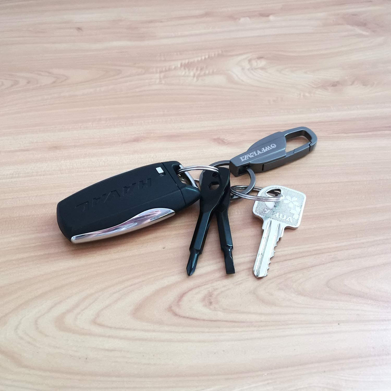 OWFVLAZI KeyChain Screwdriver Set Outdoor Mini EDC Key chain Screw Drivers Repair Tools Flathead Screwdriver Phillips Screwdriver Driver Gift Kits,Men Stocking Stuffers for Him with Keychain Holder