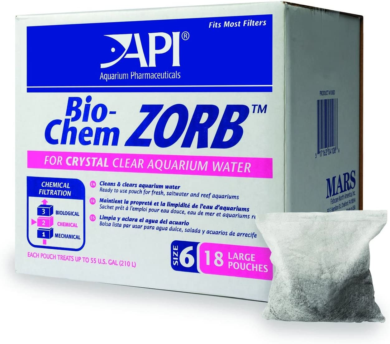 B0002AQNY0 API ZORB Filtration Media, Variety of Aquarium Filtration Pouches, Fit Most Canister Filters, Clean and Clear Water, Remove toxins That can be Harmful to Fish and Lead to Cloudy Water or Algae Growth 712aCEDoZgL
