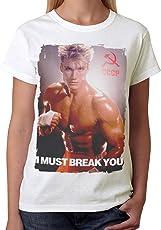 Retro Tees Ladies Ivan Drago I Must Break You Movie T-Shirt