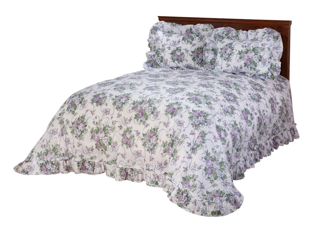 Fox Valley Traders Ribbons and Roses Plisse Bedding