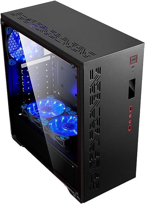UNYKAch 511201 Torre Negro Carcasa de Ordenador - Caja de Ordenador (Torre, PC, SGCC, ATX, Negro, 0,5 mm): Unyka: Amazon.es: Informática