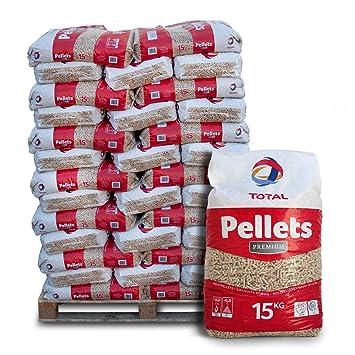 Palette Total Premium Pellets 20 Säcke je 15 kg Heizpellets Holzpellets