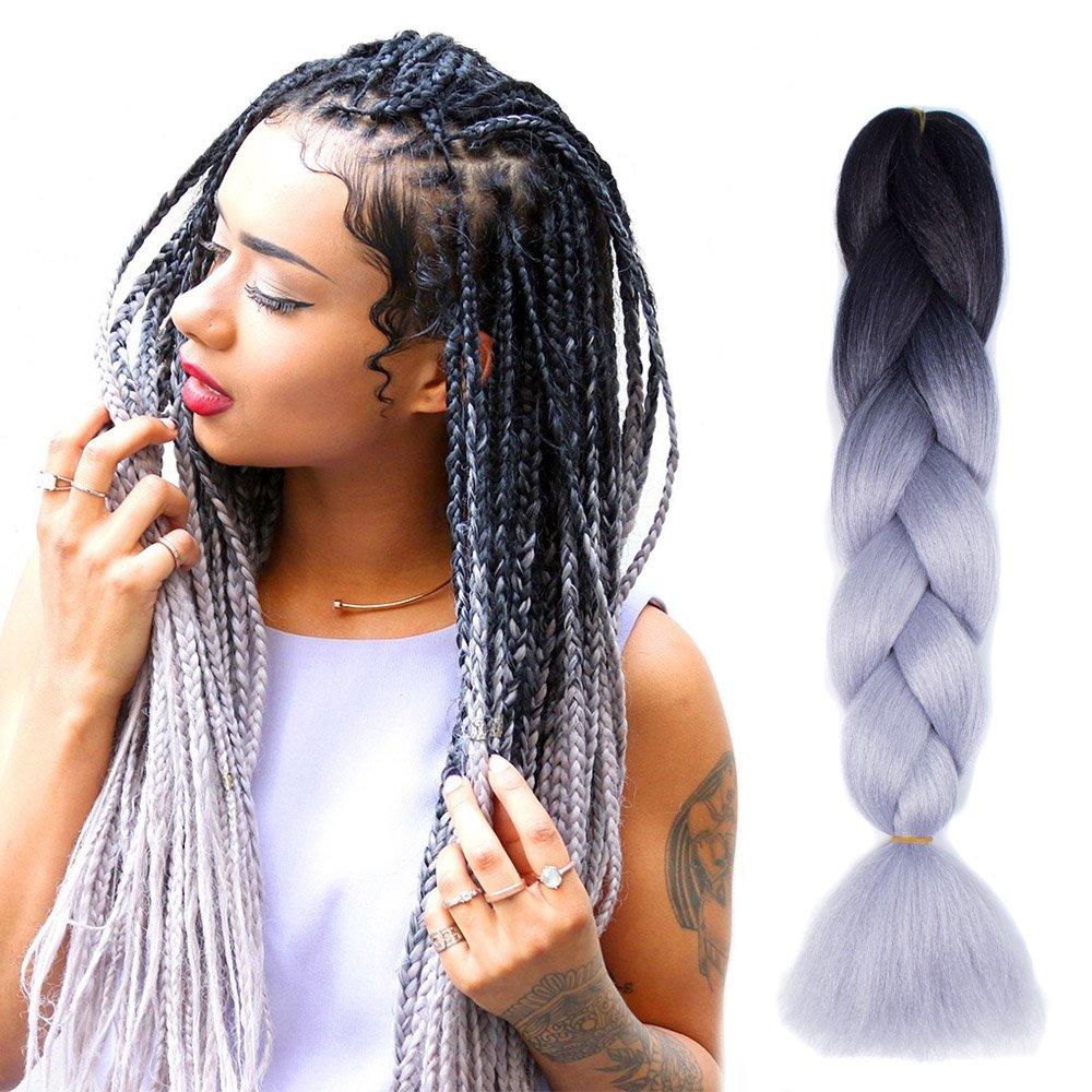 Amazon Jiameisi 24 Inch Two Tone Ombre Jumbo Braid Hair