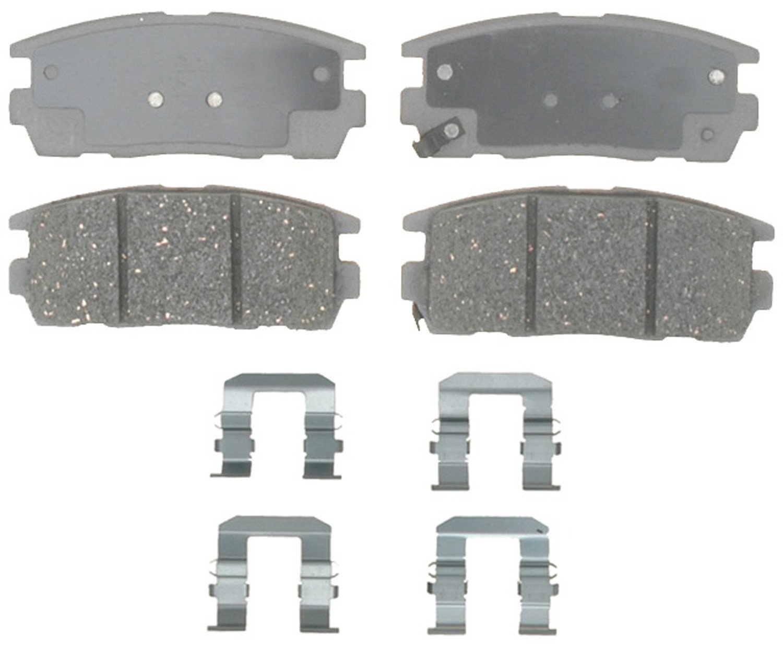 Disc Brake Pad Set-ThermoQuiet Disc Brake Pad Rear Wagner QC1093