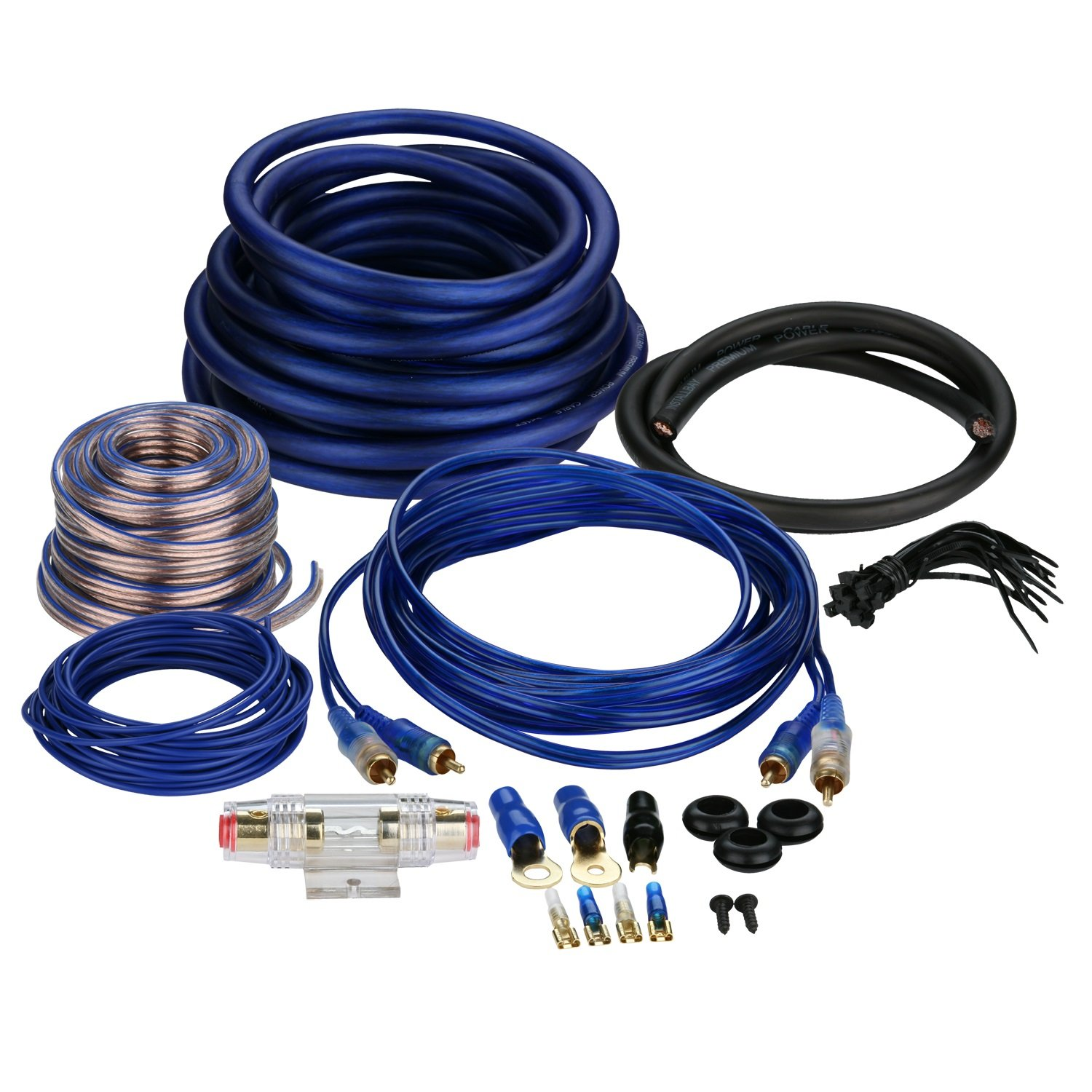 Kit Amp Wiring Wire Cable 4 Gauge Awg Complete Amplifier Details About Premium Power 3000w Anl Install Amazoncom Bay 1600 Watt Value Car Electronics