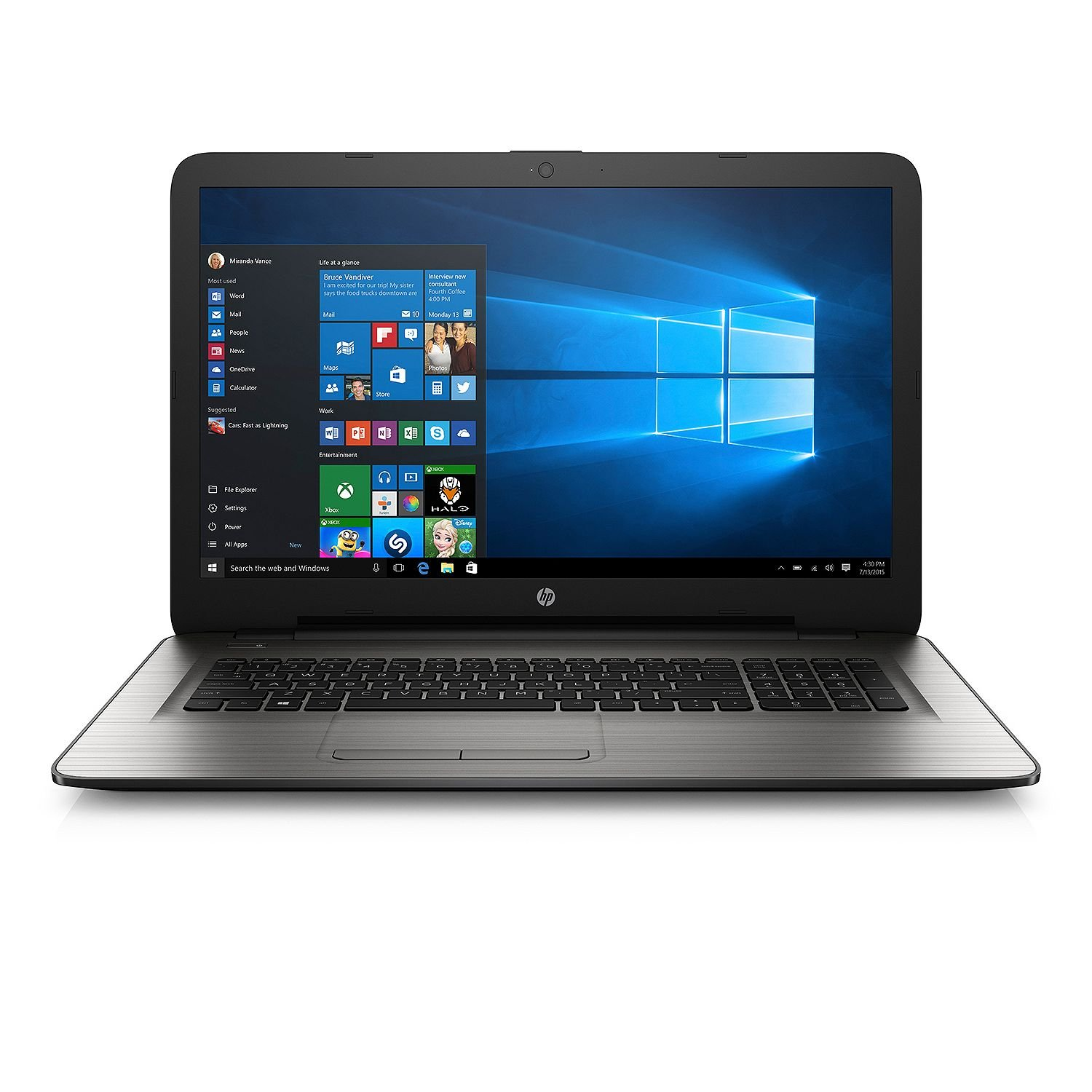 "2017 HP Full HD IPS 17.3"" Notebook 17-x137cl, Intel Core i7-7500U Processor, 16GB Memory, 2TB Hard Drive, DVDRW, AMD R7 M440 4GB Graphics, HD Webcam, Backlit Keyboard, Windows 10 Home"