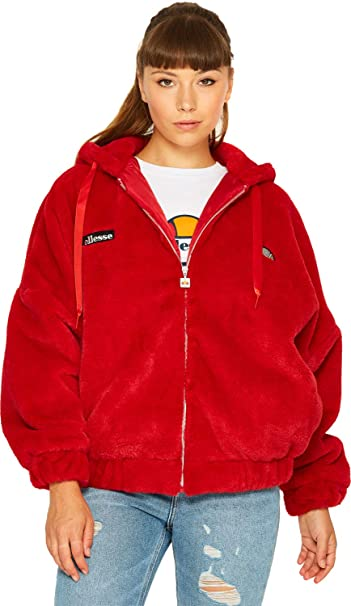 Ellesse Giovanna W Chaqueta de Forro Polar Rojo (XS): Amazon ...