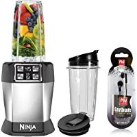 Nutri Ninja Personal Blender with 1000-Watt Auto-iQ Base to Extract Nutrients for Smoothies, Juices and Shakes