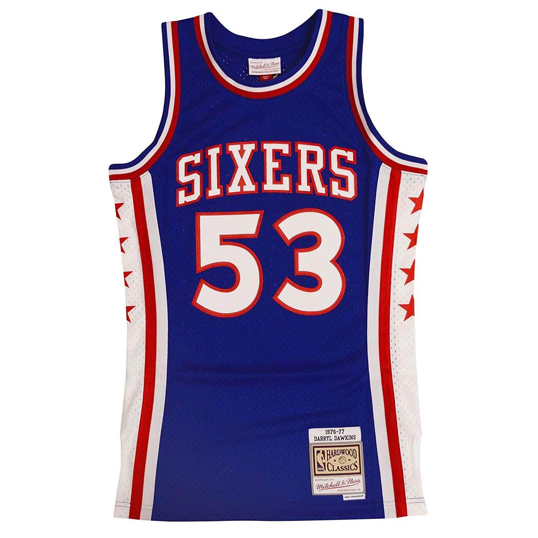 quality design 11bf5 e4de4 Mitchell & Ness Philadelphia 76ers Darryl Dawkins Throwback Swingman Jersey  Blue