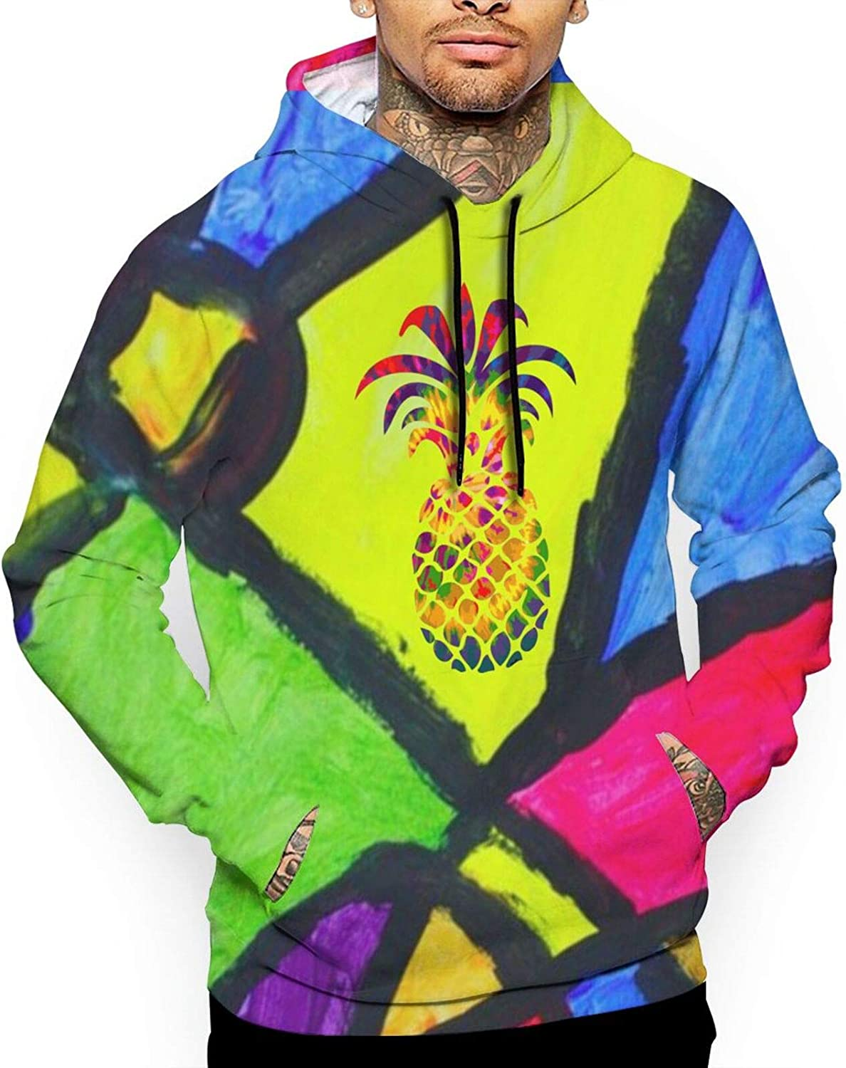 Pineapple Men 3d Hooded Sweatshirt Drawstring Hoodie