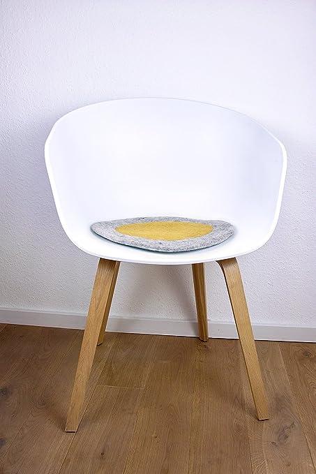 8 de Natural - Cojín para silla redonda de 100% puro Merino ...